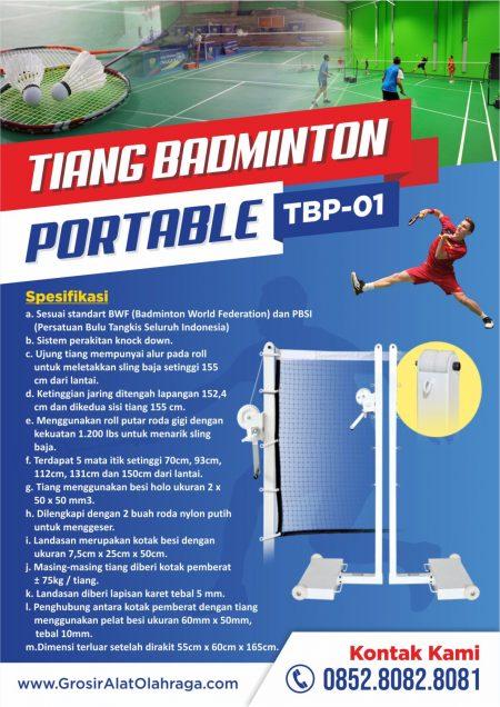 tiang badminton portable tbp-01